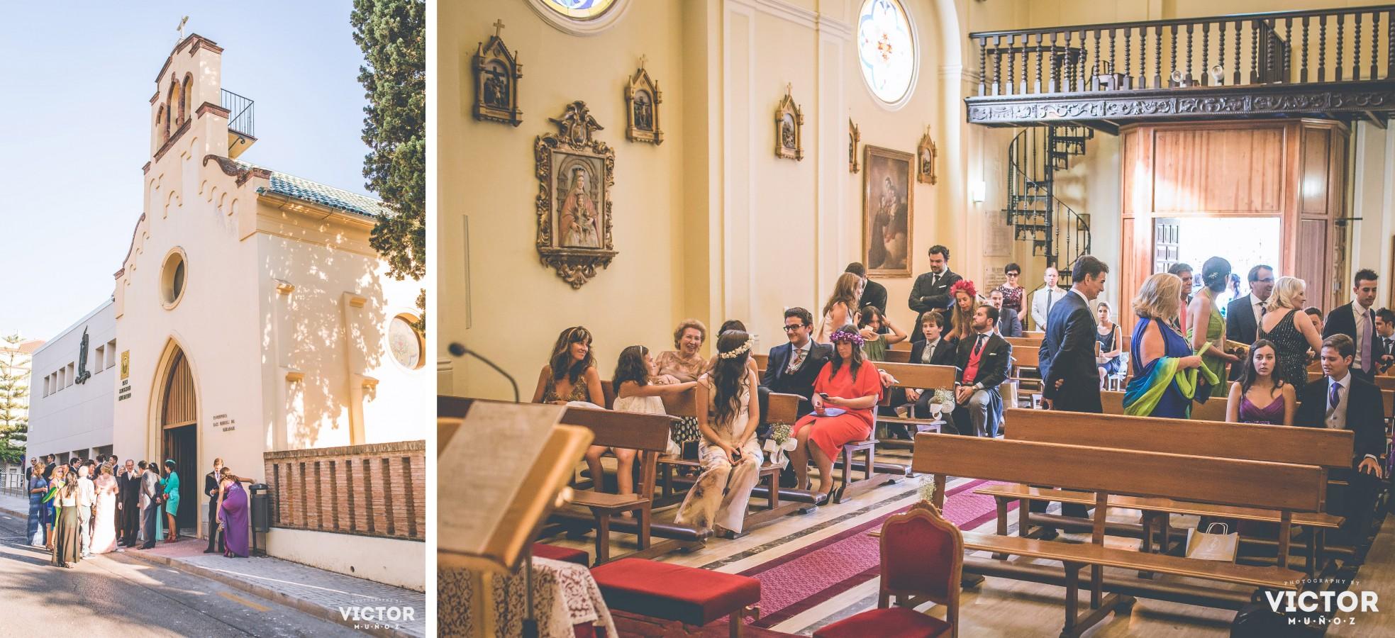 Boda en la San Miguel de Miramar y el Colegio de Arquitectos de Málaga